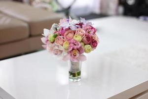 Beautiful bridal bouquet in vase