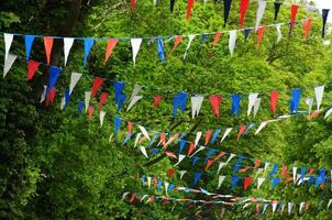 Street party bunting, Jersey. photo