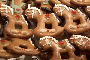 figuras de pan de jengibre foto
