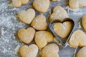 Heart-shaped cookies photo