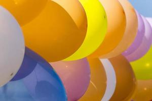 Colorful balloons. photo