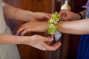 bracelet of flowers for the wedding