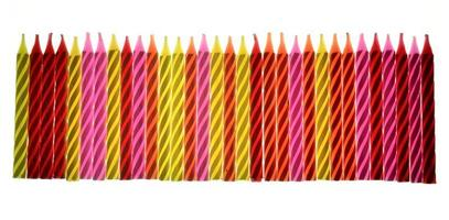 Colorful birthday candles photo