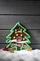 árbol de navidad de pan de jengibre decoraciones en forma de estrella