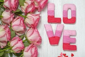 Valentine's day concept with letters love