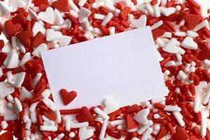 Valentine heart sprinkles photo