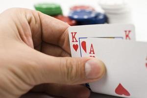 Play texas holdem poker. photo