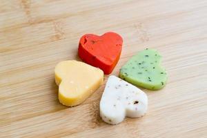 Cheese hearts photo