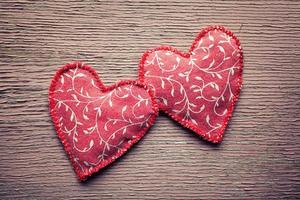 Fabric hearts photo