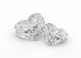 Diamond hearts. photo
