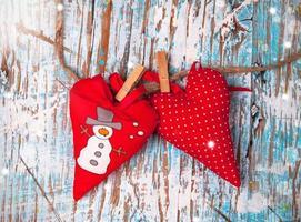 Christmas hearts photo