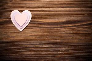 Wood hearts. photo