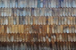 Wooden Tiles Chiloe's unique design, Chiloe Island, Chile photo
