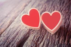 corazón rojo foto