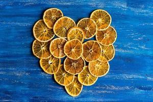 corazon naranja foto