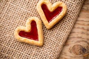 galletas de corazón. foto