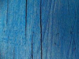 Old Grained Blue Wood Background photo