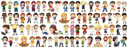 Children of different nationalities set vector