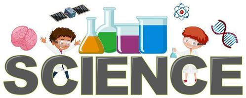 Science logo with elements vector
