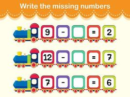escribir el concepto de tren de números que faltan