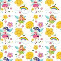 contos de fadas perfeitos com arco-íris e flores
