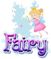 Fairy logo with little fairy