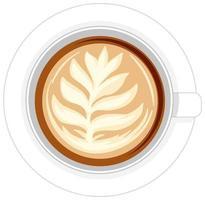 Taza de café aislado sobre fondo blanco.