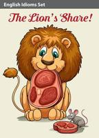 English idiom showing a lion vector