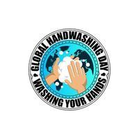 diseño del día mundial del lavado de manos
