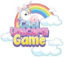 icono de unicornio sobre fondo blanco