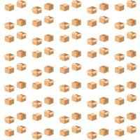 Cardboard boxes seamless pattern design vector