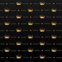 Gold crown pattern design