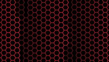 Abstract red hexagon pattern background vector