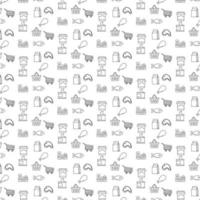 diseño de patrón de icono de comestibles vector