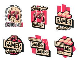 Gaming Joystick Logo Set vector