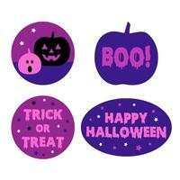 Purple Halloween pumpkin trick or treat graphics