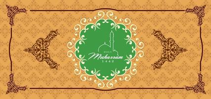 Islamic Happy Muharram Greeting Baner