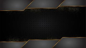 Black and Gold Luxury Abstract Shapes Design