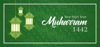 Islamic New Year Happy Muharram Greeting Design