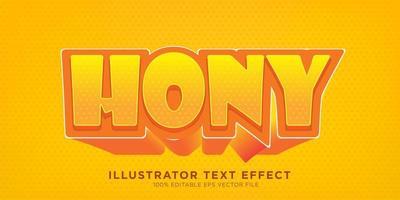 efecto de diseño de efecto de texto de miel vector