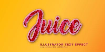 Juice Text Effect Design vector