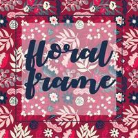 marco floral rosa de moda para múltiples usos