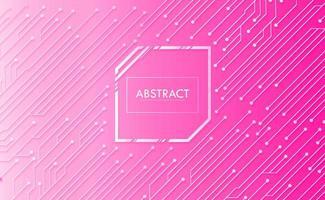 fondo rosado de la tecnología del futuro del circuito cibernético vector