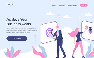 Business Target Landing Page vector