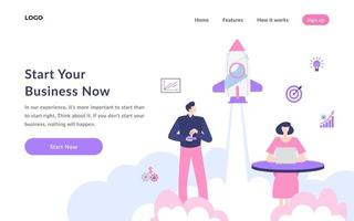 Startup Landing Page vector