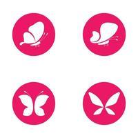 Beauty butterfly set vector