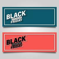 conjunto de cupones de concepto de viernes negro vector