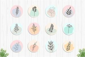 Romantic Botanical Highlights Collection vector