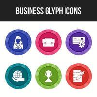 6 Business Icon Set