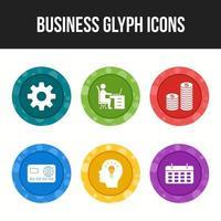 6 Unique Business glyph